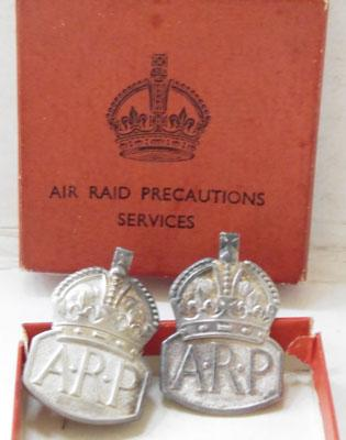 Collection of silver ARP badges - 1934-37