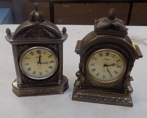 Pair of Retro style mantle clocks