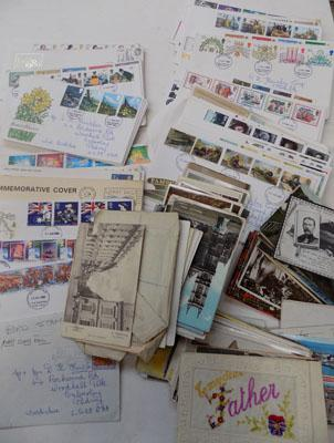 Selection of 1st Day covers & vintage postcards