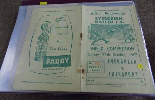 Folder of football programmes