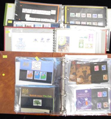 4 filled albums of First Day cover of presentation packs