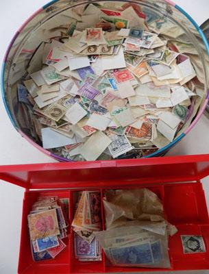 Tin of stamps