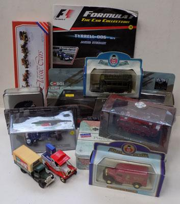Selection of diecast incl: WW1 & Jackie Stewart 1973 diecast