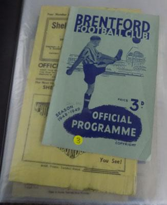Folder of football programmes 1940's and 1950's