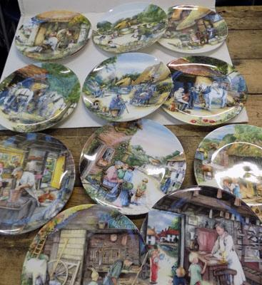 Selection of Royal Doulton Old Country Crafts plates