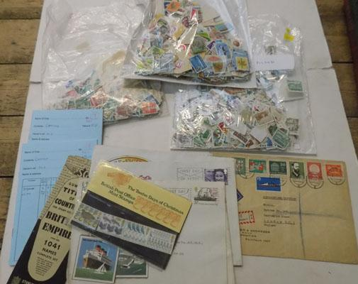 Stamps & 2 club books