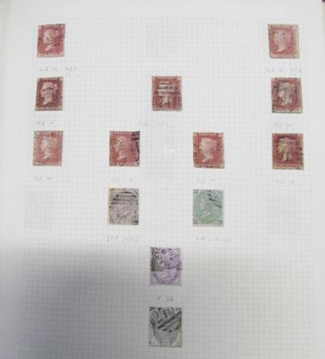 Binder containing good range of early GB stamps