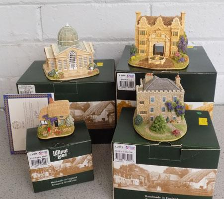 4x Lilliput Lane models in boxes