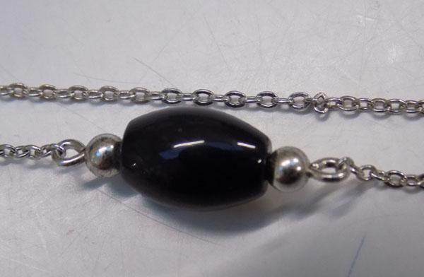 Sterling 925 silver floating necklace approx 15""
