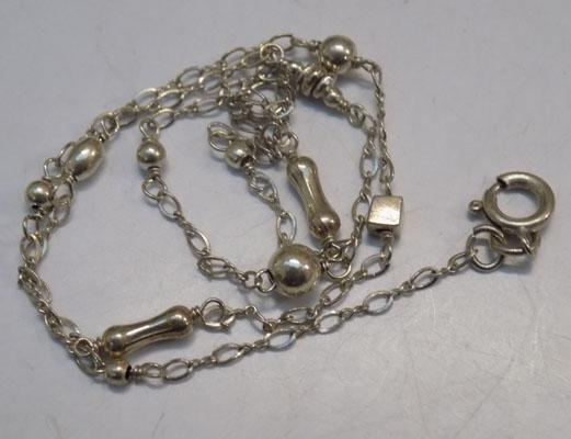 Sterling 925 silver necklace approx 15""