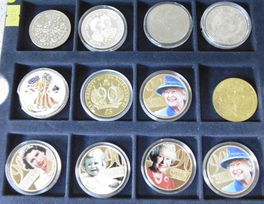 12 collectable coins and crown