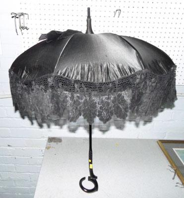 Vintage parasol with lace trim TLC required