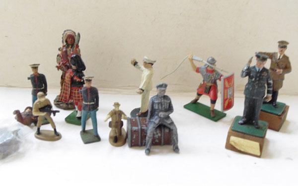 Collection of lead Britain soldiers and characters incl. rare Churchill and Hitler
