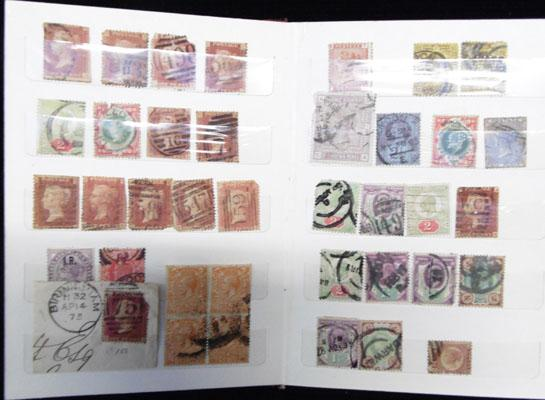 Small stockbook of Queen Victoria stamps