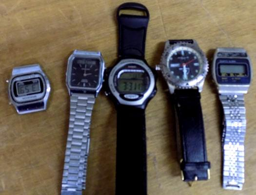 Casio illuminator and four other watches