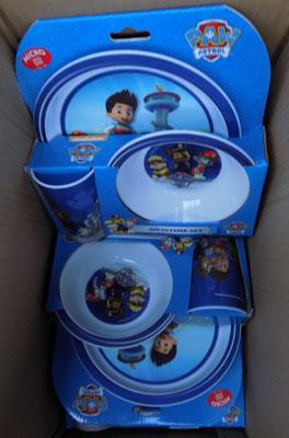 6x Paw Patrol dinner sets