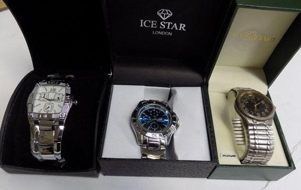 3x New watches in boxes (ideal Christmas gifts)