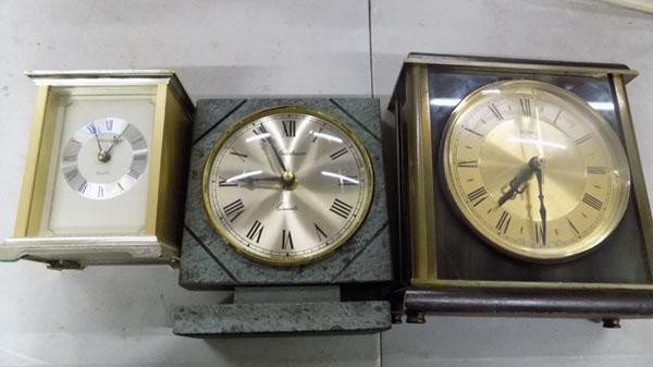 3x Mantle clocks inc Metamec