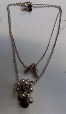 2x Silver necklaces