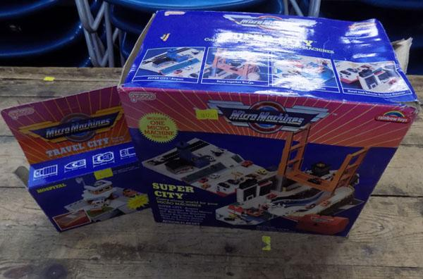Boxed micro machines super city & hospital set