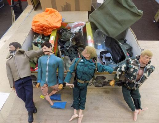 Vintage collection of Action men