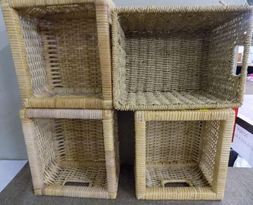Selection of small wicker baskets