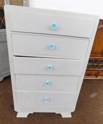 5 Drawer shabby chic unit