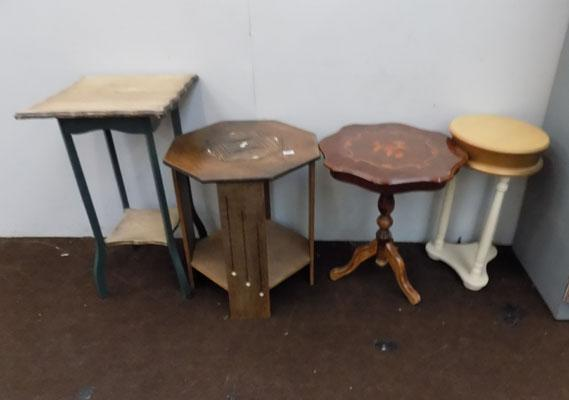 4x Small occasional tables