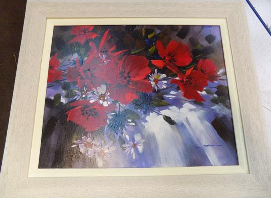 Framed oil on board