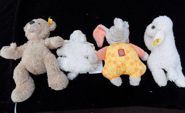 4x Soft toys inc Steiff