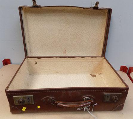 Vintage suitcase with key