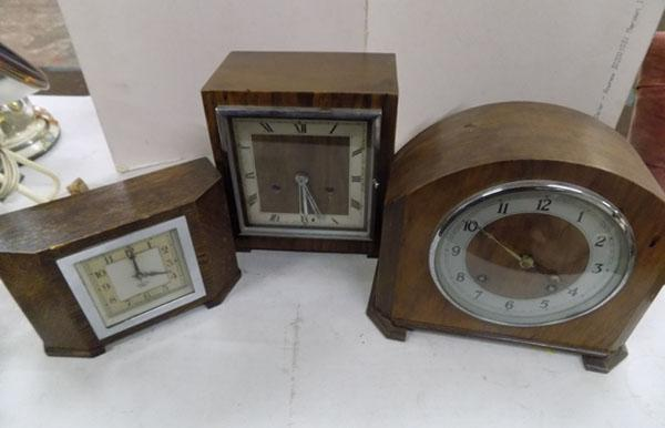 3x Mantle clocks inc Smiths