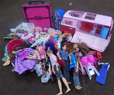 Barbie and Monster High dolls and Accessories