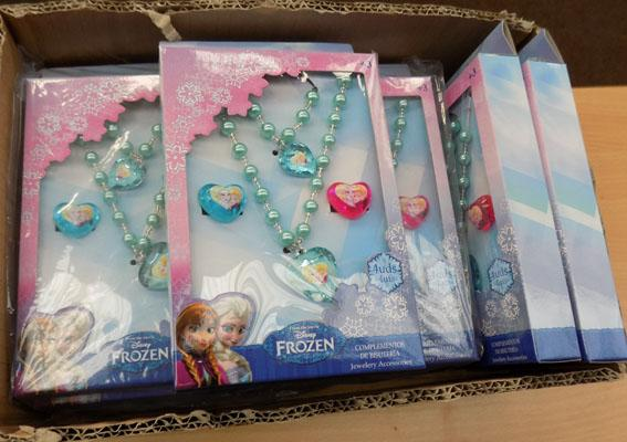 Box of Frozen jewellery sets