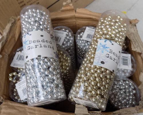 Box of beaded garlands