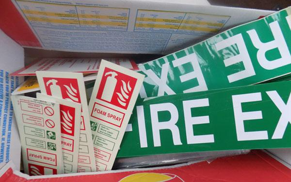 Large selection of Fire Exit signs