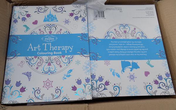 Box of Frozen colouring books