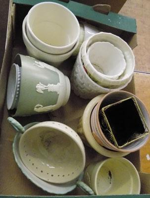 Plant pots in box