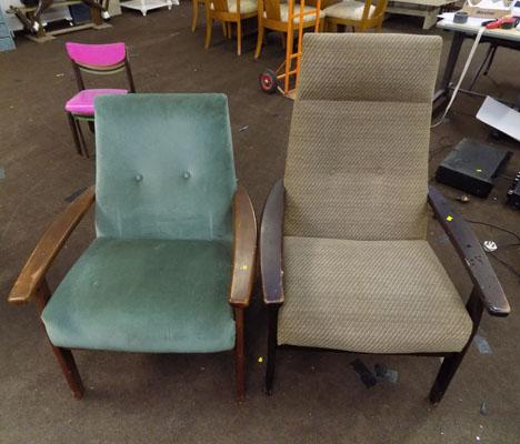 2x Parker Knoll chairs
