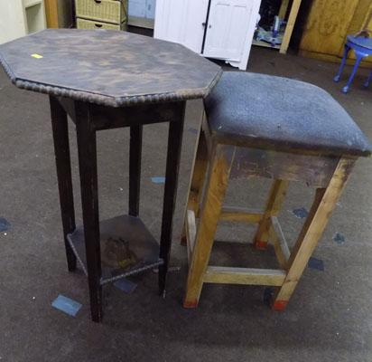 Bar stool & table