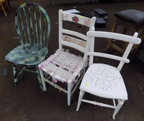 3x Chairs inc Bible chair