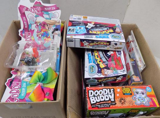 2x Boxes of toys inc Go bows
