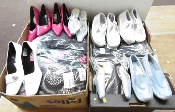 2x Boxes of new clothes & shoes