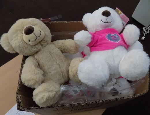Box of new Teddy bears