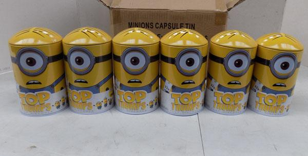6x Minion tin sets