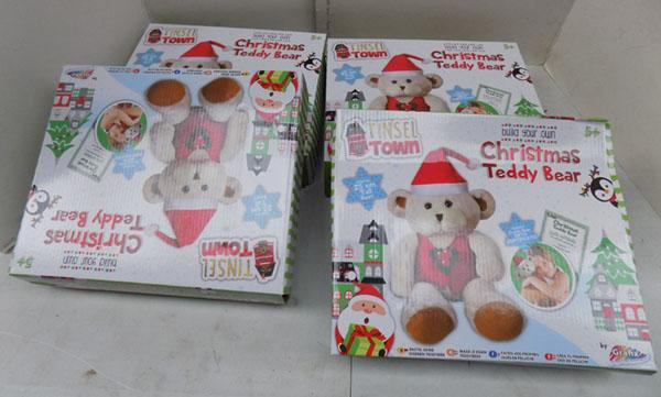 4x Christmas Teddy bear sets