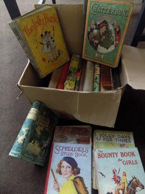 Box of vintage books