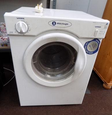 White knight tumble dryer w/o