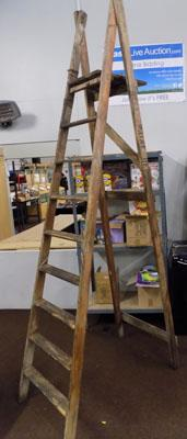 Large wooden ladders