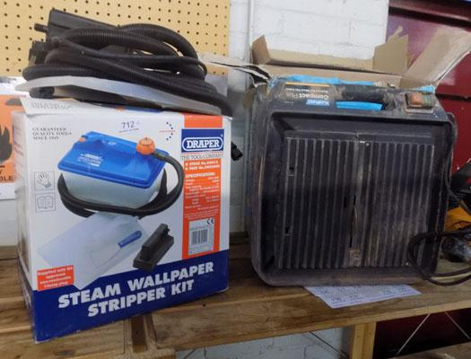 Electric tile cutter and wallpaper steamer